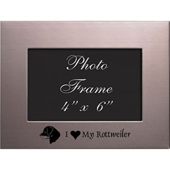 4 x 6  Metal Picture Frame  - I Love My Rottweiler