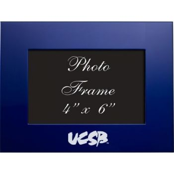 University of California, Santa Barbara - 4x6 Brushed Metal Picture Frame - Blue