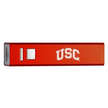University of Southern California - Portable Cell Phone 2600 mAh Power Bank Charger - Red