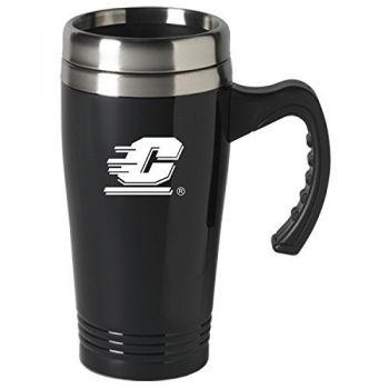 Central Michigan University-16 oz. Stainless Steel Mug-Black