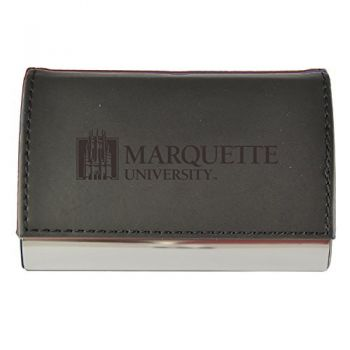 Velour Business Cardholder-Marquette University-Black