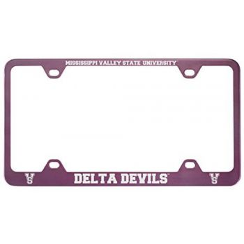 Mississippi Valley State University -Metal License Plate Frame-Pink