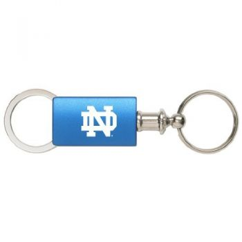 University of Notre Dame - Anodized Aluminum Valet Key Tag - Blue
