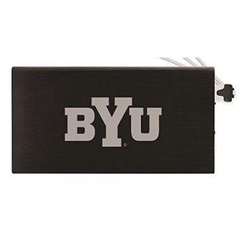 8000 mAh Portable Cell Phone Charger-Brigham Young University -Black
