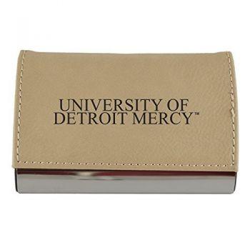 Velour Business Cardholder-University of Detroit Mercy-Tan