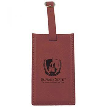 Buffalo State University - The State University of New York -Leatherette Luggage Tag-Burgundy