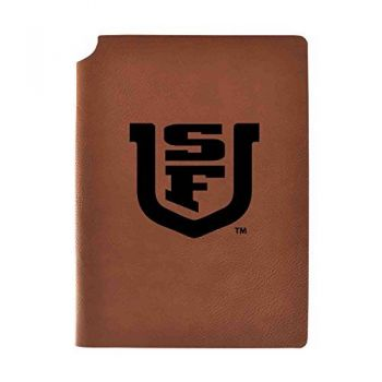 University of San Francisco Velour Journal with Pen Holder|Carbon Etched|Officially Licensed Collegiate Journal|