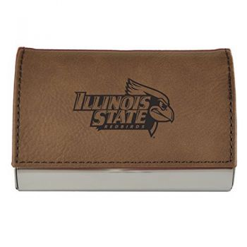 Velour Business Cardholder-Illinois State University-Brown