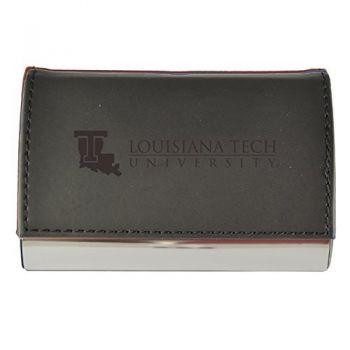 Velour Business Cardholder-Louisiana Tech University-Black