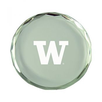University of Washington -Crystal Paper Weight