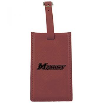 Marist College-Leatherette Luggage Tag-Burgundy