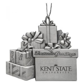 Kent State University - Pewter Gift Package Ornament