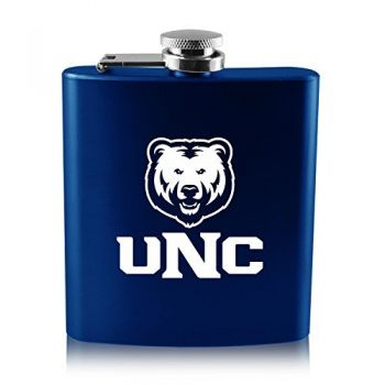 University of Northern Colorado -6 oz. Color Stainless Steel Flask-Blue