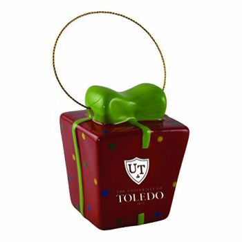 University of Toledo-3D Ceramic Gift Box Ornament