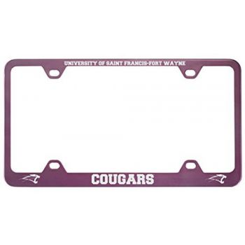 University of Saint Francis-Fort Wayne -Metal License Plate Frame-Pink