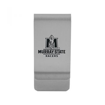 Murray State University|Money Clip with Contemporary Metals Finish|Solid Brass|High Tension Clip to Securely Hold Cash, Cards and ID's|Gold