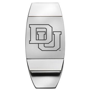 University of Denver - Two-Toned Money Clip - Silver