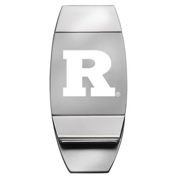 Rutgers University - Two-Toned Money Clip - Silver