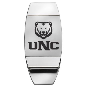 University of Northern Colorado - Two-Toned Money Clip - Silver