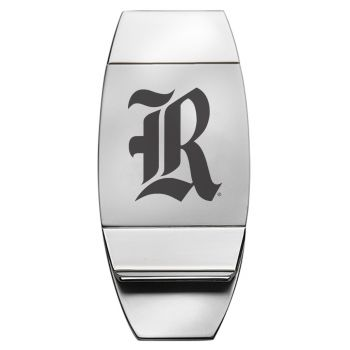 Rice University - Two-Toned Money Clip - Silver