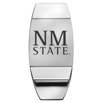 New Mexico State University - Two-Toned Money Clip - Silver