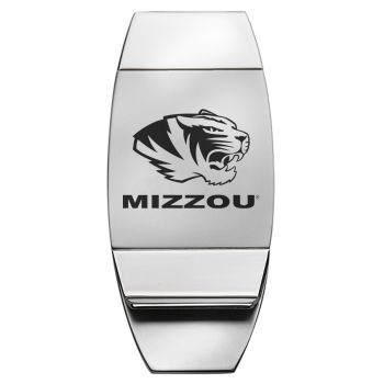 University of Missouri - Two-Toned Money Clip - Silver