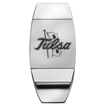 University of Tulsa - Two-Toned Money Clip - Silver
