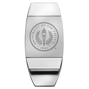 University of the Pacific - Two-Toned Money Clip - Silver