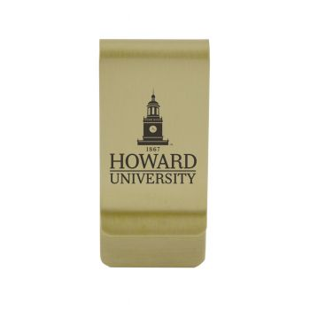 University of Houston|Money Clip with Contemporary Metals Finish|Solid Brass|High Tension Clip to Securely Hold Cash, Cards and ID's|Silver
