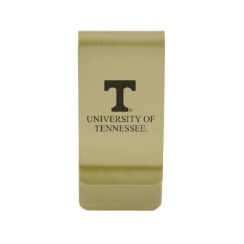 University of Tennessee at Martin|Money Clip with Contemporary Metals Finish|Solid Brass|High Tension Clip to Securely Hold Cash, Cards and ID's|Silver