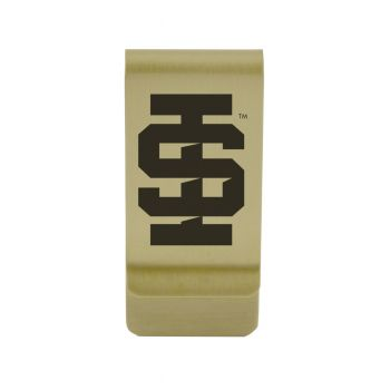 University of Idaho |Money Clip with Contemporary Metals Finish|Solid Brass|High Tension Clip to Securely Hold Cash, Cards and ID's|Silver