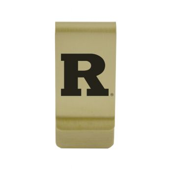 Rider University|Money Clip with Contemporary Metals Finish|Solid Brass|High Tension Clip to Securely Hold Cash, Cards and ID's|Silver