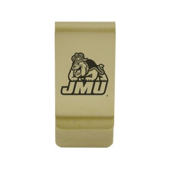 Jacksonville State University|Money Clip with Contemporary Metals Finish|Solid Brass|High Tension Clip to Securely Hold Cash, Cards and ID's|Silver