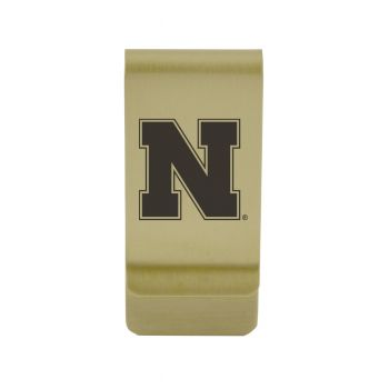 University of Nebraska at Kearney|Money Clip with Contemporary Metals Finish|Solid Brass|High Tension Clip to Securely Hold Cash, Cards and ID's|Silver