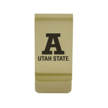 University of Utah|Money Clip with Contemporary Metals Finish|Solid Brass|High Tension Clip to Securely Hold Cash, Cards and ID's|Silver
