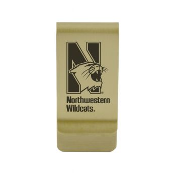 Northern Illinois University|Money Clip with Contemporary Metals Finish|Solid Brass|High Tension Clip to Securely Hold Cash, Cards and ID's|Silver
