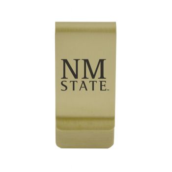 Nicholls State University|Money Clip with Contemporary Metals Finish|Solid Brass|High Tension Clip to Securely Hold Cash, Cards and ID's|Silver