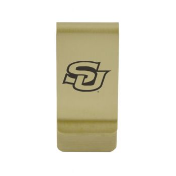 University of South Alabama Money Clip with Contemporary Metals Finish Solid Brass High Tension Clip to Securely Hold Cash, Cards and ID's Silver