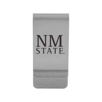 New Mexico State|Money Clip with Contemporary Metals Finish|Solid Brass|High Tension Clip to Securely Hold Cash, Cards and ID's|Gold