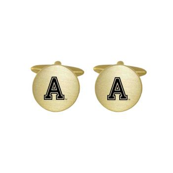 Brushed Metal Cuff Links-United States Military Academy-Gold