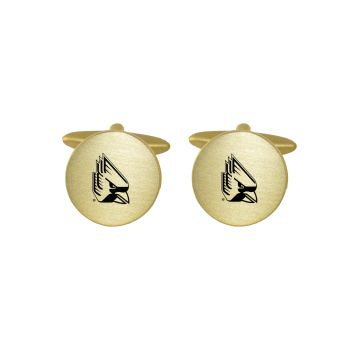Brushed Metal Cuff Links-Ball State University-Gold