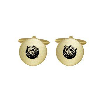 Brushed Metal Cuff Links-Belmont University-Gold