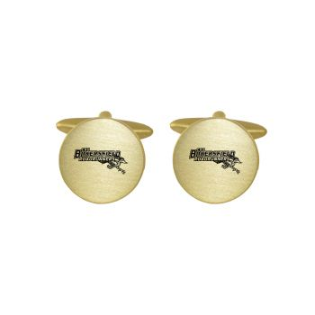 Brushed Metal Cuff Links-California State University, Bakersfield-Gold