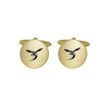 Brushed Metal Cuff Links-Delaware State University -Gold