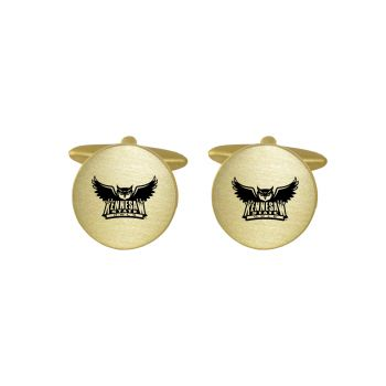 Brushed Metal Cuff Links-Kennesaw State University-Gold