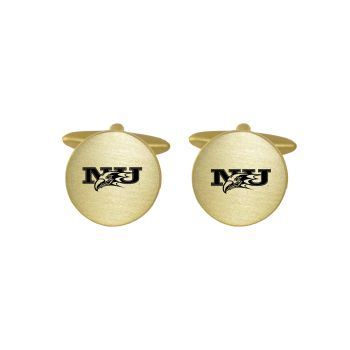 Brushed Metal Cuff Links-Niagara University-Gold