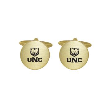 Brushed Metal Cuff Links-University of Northern Colorado -Gold