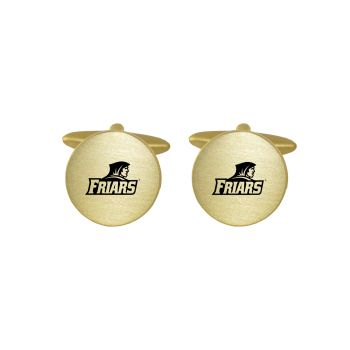 Brushed Metal Cuff Links-Providence College-Gold
