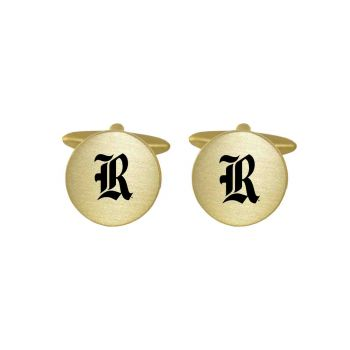 Brushed Metal Cuff Links-Rice University-Gold