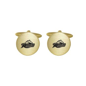 Brushed Metal Cuff Links-Rider University-Gold